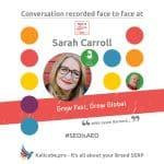 Sarah Carroll #SEOisAEO TakeitOffline Brighton