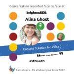 Alina Ghost #SEOisAEO BrightonSEO