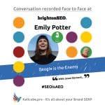 Emily Potter #SEOisAEO BrightonSEO