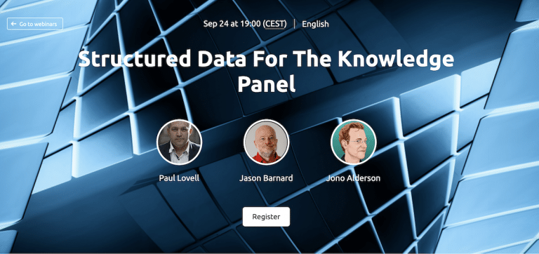 Structured Data For The Knowledge Panel