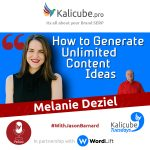 Melanie Deziel with Jason Barnard - How to Generate Unlimited Content Ideas