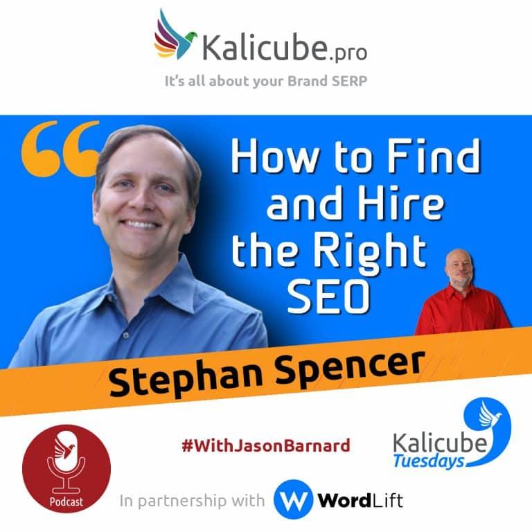 Stephan Spencer with Jason Barnard at Kalicube Tuesdays