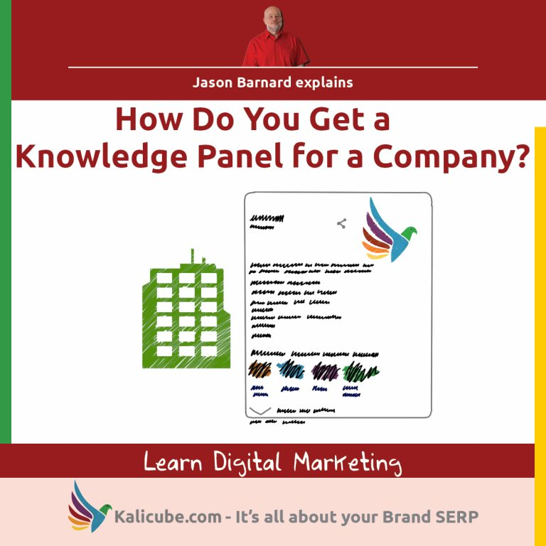 3 step process for getting a knowledge panel for a company.