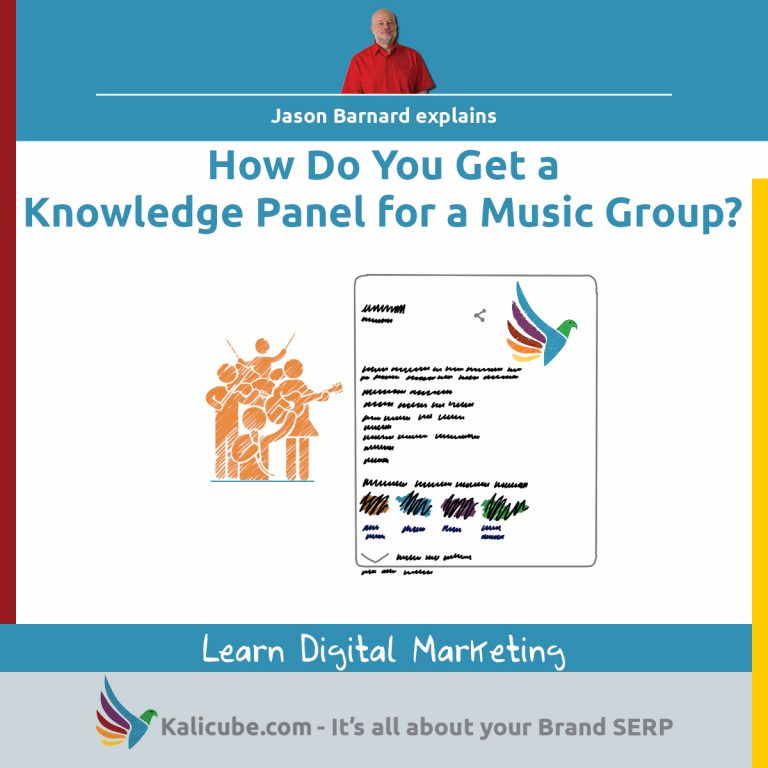 3 step process for getting a knowledge panel for any music group